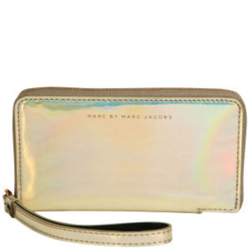 Marc by Marc Jacobs Wingman Purse - Pale Gold Holographic - One Size Womens Accessories - Free UK Delivery over £50