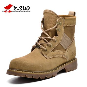 Desert Women Boots Winter Casual Ankle Boots Women Autumn Cow Suede breathable Canvas Tactical Boots Girl