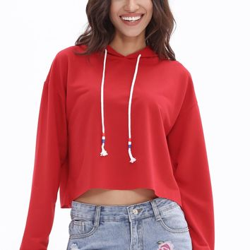 Cropped Long Sleeve Hoodies