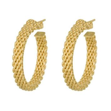 CREY3DS Tiffany & Co. Somerset Narrow Hoop Earrings