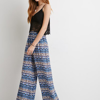 Abstract Striped Wide-Leg Pants