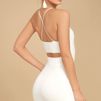 Looking Fine White Bodycon Dress