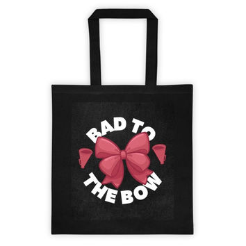 Bad to the Bow Cheer Tote Bag