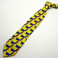 Yellow Funny Rubber Duck Tie Men's Fashion Casual Fancy Ducky Professional Necktie How I Met Your Mother New  1pc Cute Ducky Tie