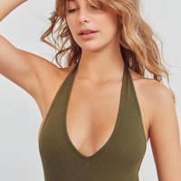 Out From Under Brooke Halter Bodysuit   Urban Outfitters
