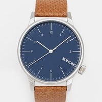 Komono Winston Leather Strap Watch
