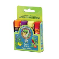 Badger Classic Lip Balm 4-Pack - Green