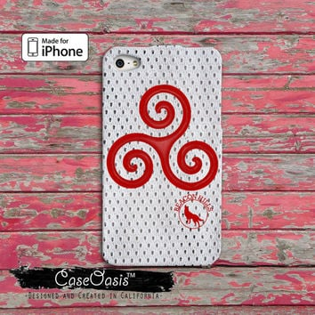 Teen Wolf Inspired Triskelion Symbol Alpha Derek Hale Scott Mccall Red Custom iPhone 4 and 4s Case and Custom iPhone 5 and 5s and 5c Case