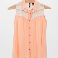 BKE Boutique Embellished Shirt
