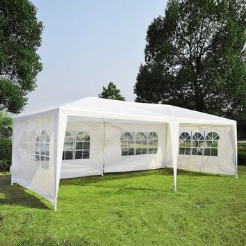 10'x20' Heavy Duty Wedding Party Tent Waterproof Gazebo Car Canopy 4 Walls / 6 Walls for Outdoor Camping BBQ Pavilion Canopy Cat