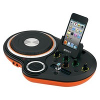 Jensen DJ Scratch Mixer for iPod/MP3 Players - Black/Orange (JDJ-500)