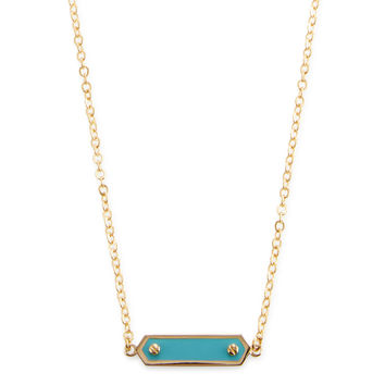 Marc by Marc Jacobs Jewelry Women's Tiny Enamel Plaque Station Necklace