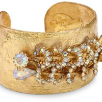 "EVOCATEUR ""Very Vintage"" Florence 22K Gold Leaf Cuff Bracelet - Like Love Buy"