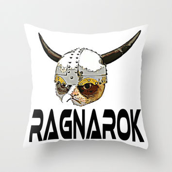 RAGNAROK  |  Grumpy Cat Throw Pillow by Silvio Ledbetter
