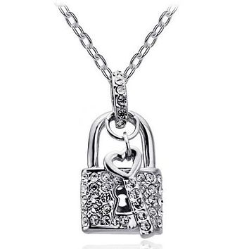 "Ryan ""Royal""  Necklace 18K White Gold Plated"
