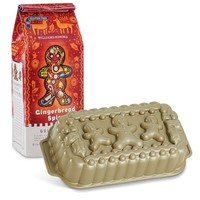 Nordic Ware Gingerbread Man Loaf Pan And Gingerbread Gluten Free Quick Bread Mix