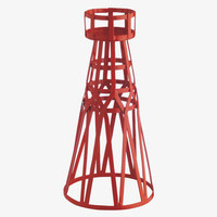 TOWER REDS Metal Red metal tea light holder - Home  Accessories-             HabitatUK
