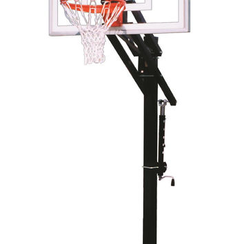 First Team Jam II In Ground Outdoor Adjustable Basketball Hoop 48 inch Acrylic