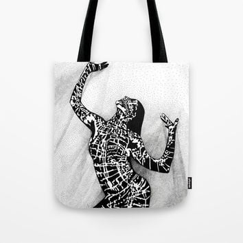 Girl In Shadow Tote Bag by MIKART