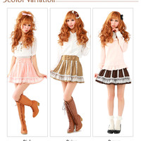 Rakuten: 【M~LL】Waist ribbon ♪ princess lace frill tulle skirt- Shopping Japanese products from Japan
