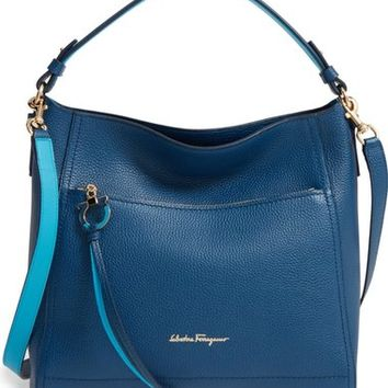 Salvatore Ferragamo Medium Ally Leather Hobo | Nordstrom