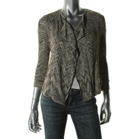 INC Womens Petites Knit Metallic Cardigan Sweater