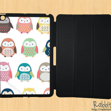 iPad Mini Case, iPad Mini Cover, iPad Mini Smart Cover, Leather iPad Mini Smart Case, Hard Case - Owl