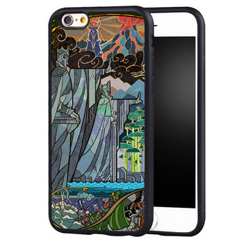 Lord of the Rings Printed Protective Soft TPU Skin Mobile Phone Cases OEM For iPhone 6 6S Plus SE 5 5S 5C 4 4S Back Shell Cover