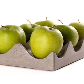 Concrete Hexi-Bowl - Fruit Bowl