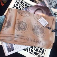 Perfect Chanel Woman Cashmere Scarf Shawl Silk Scarf