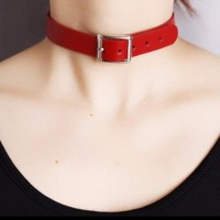 Class Vintage Harajuku Punk Rock Leather Collar Choker Necklace Strap Female Chokers Necklaces Sexy Belt Buckle Adjustable N3230