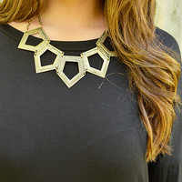Sharp Objects Necklace: Gold