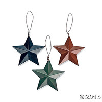 Barn Star Christmas Ornaments
