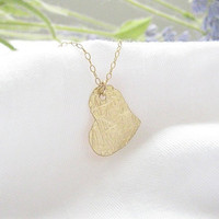 Gold heart necklace, gold necklace, dainty gold necklace