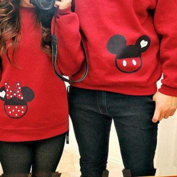Mickey & Minnie Mouse Couples Sweatshirts