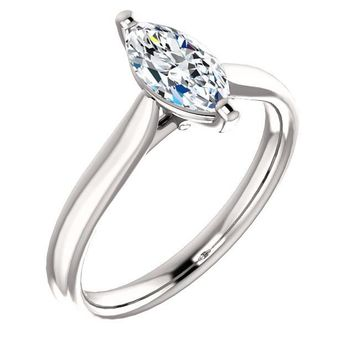 0.75 Ct Marquise Diamond Engagement Ring 14k White Gold 0a16d674e4