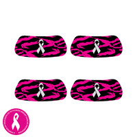 Digital Ripped camo pink black Eye Black Stickers