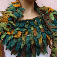 Hand Knitted Scarves and Beanies Crochet Necklaces by BohemBYMA