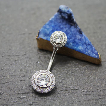 belly ring, flower belly button ring, belly piercing, belly jewelry, diamond unique navel ring