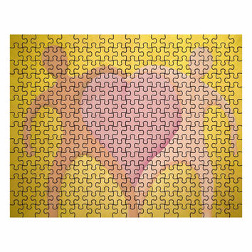 The Love Between Us Radiates - 252 Piece Puzzle of Acrylic Paint Fine Art