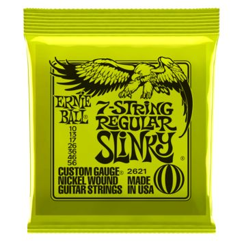 Ernie Ball Regular Slinky 7-String Nickel Wound Electric Guitar Strings 10-56