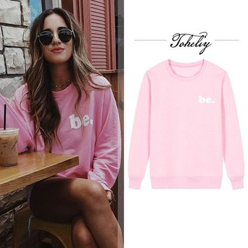 KPOP BTS Bangtan Boys Army  new Style Women Hoodies Sweatshirts pink letters printing loose outwear round neck Hip-Hop Boy girl Clothes thick style AT_89_10