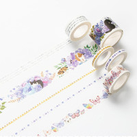 Infeel Voilet Series washi tape DIY decorative scrapbooking planner masking adhesive tape label sticker stationery