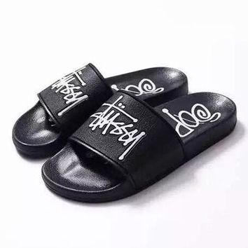 Stussy Woman Men Fashion Slipper Sandals Shoes
