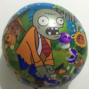 Lucky 1pcs 45*45cm Plants vs Zombies Balloon Cartoon Globos Birthday Party Baloons Wedding Decorations Mylar Helium Balloons Toy
