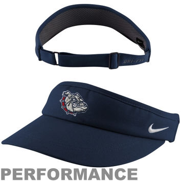 Nike Gonzaga Bulldogs 2013 Sideline Dri-FIT Adjustable Performance Visor - Navy Blue - http://www.shareasale.com/m-pr.cfm?merchantID=7124&userID=1042934&productID=522279700 / Gonzaga Bulldogs