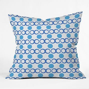 Lisa Argyropoulos Retrocity In Blue Sky Throw Pillow