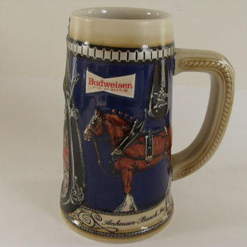 Vintage Budweiser Mug / Tankard from the early 1980's