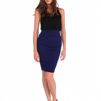 Veronica M Textured Body Con Skirt