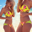 Women's Sexy Halter Triangle Neoprene Bikini Push-Up Swimsuit Swimwear Beachwear